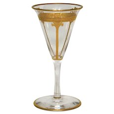 Vintage Cordial Glass with Gold Décor