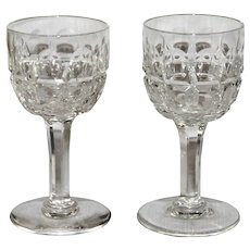 Pair Stuart Crystal Cordials, signed