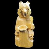 Wood Carved Bear - Russia, Soviet Union