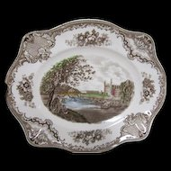 Johnson Bros. Platter - Old Britain Castles - Cambridge - Multi Color