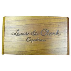 Wooden display box for Boker knife - Lewis & Clark Expedition