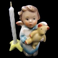 Hummel Angel with Teddy Bear Candleholder
