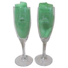 John Deere Champagne Flutes