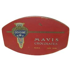 MAVIS Chocolates Tin  Paris and New York