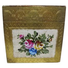 Florentine Wooden Gilt Tissue Box - Made in Italy