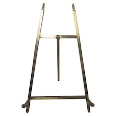 Vintage  Brass Picture Frame Table top Easel -Display Stand - JANIS #45