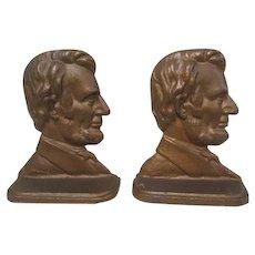 Abraham Lincoln Copper Clad Bookends