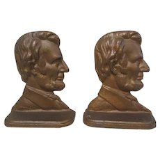 Abraham Lincoln Copper Clad Bookends