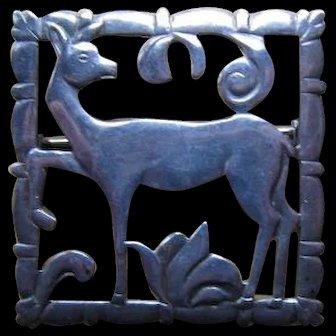 Sterling Deer Pin/Brooch - BRKS