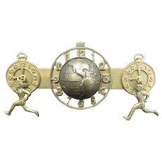 Jan Michaels Bar Pin Globe, Clocks, Runners