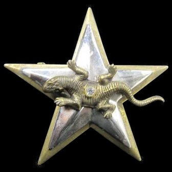 Jan Michaels Pin Lizard on a Star