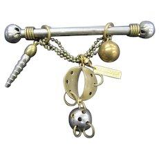Jan Michaels Bar Pin, Various Metals