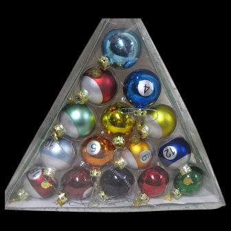 Billiard Ball Ornaments