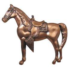 Copper Western Horse Pin