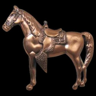 Copper Western Horse Pin