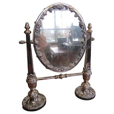 Sheffield Plated Dressing Table Mirror