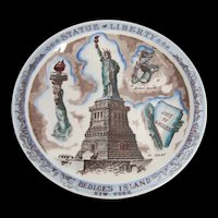 Statue of Liberty Plate by Vernon Kilns