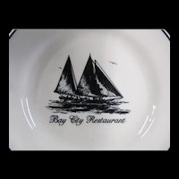 Bay CIty Restaurant Small Plate Sailboats
