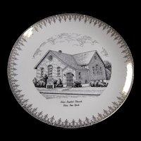 1957 Bliss Baptist Church New York Homer Laughlin Commemorative Plate