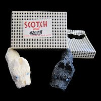 TSCHOTCHKE:   Black and White Scotties Soapy Scotties