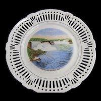 TCHOTCHKE:  General View Niagara Falls - Bavaria Souvenir Plate
