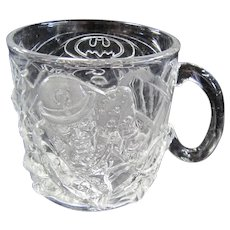 TCHOTCHKE:  Batman Forever Glass Mug - McDonald's- DC Comics 1995 - The Riddler