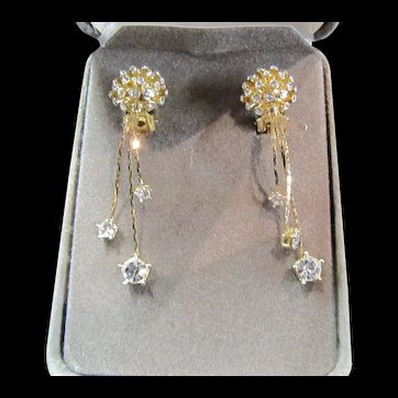 Nolan Miller Glamour Collection - Sparkly, Dangly Clip on Earrings