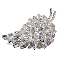 Gorgeous Large Rhinestone Brooch Grapes