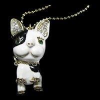 Vintage Betsey Johnson French Bulldog Necklace - Frenchi
