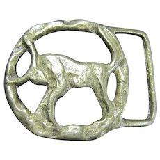 VIntage Crude Brass Belt Buckle - Taurus