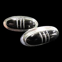 Sterling Mexico Cerroblanco Modernist Earrings