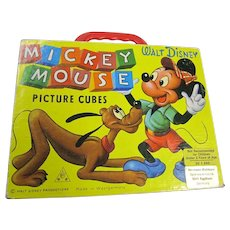 Mickey Mouse Picture Cubes  Made in West Germany