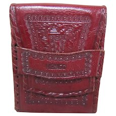 Tooled Leather Cigarette Case - Mexico