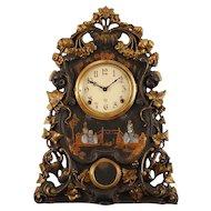 American Cast Iron Mantel Clock