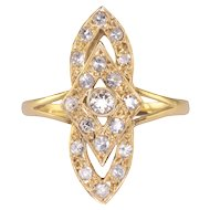 0.70 CTW Diamond Art Deco Design Ring