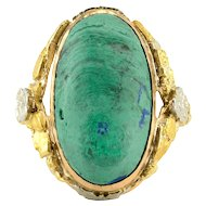 8.0 Carat Cabochon Malachite Ring