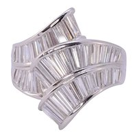 Baguette Diamond Platinum Fashion Ring