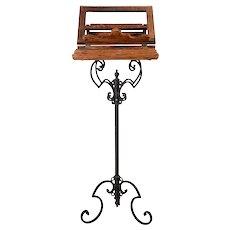 Wood & Iron Music Stand