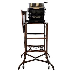 Burroughs Adding Machine on Stand