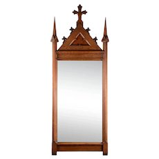 Walnut Gothic Mirror