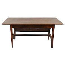 American Oak Wood Lift Top Bakers Table