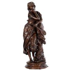 A. Gaudez Bronze Sculpture Mignon