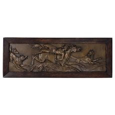 Mazeppa & The Wolves Bronze Plaque