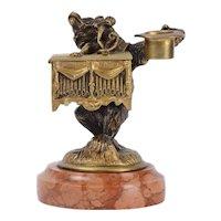 Bear Monkey Grinder Bronze Sculpture