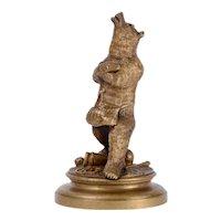 Trick Circus Bear Bronze Sculpture