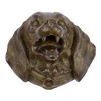 Bronze Dog Desk Stamp Box