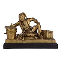 Pirate Monkey Cook Anthropomorphic Bronze Sculpture