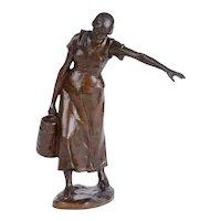 H Muller Balanced Bronze Sculpture