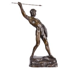 Fuch Spearman Warrior Bronze Sculpture