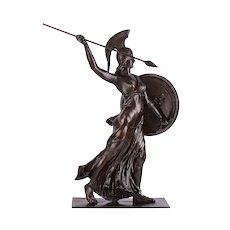 Walter Schulze-Thewis Athena Goddess of War Bronze Sculpture